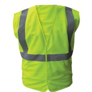 Enguard Size 3X-Large Lime ANSI Class 2 Solid Polyester Safety Vest with 2 inch Silver Striping by Enguard