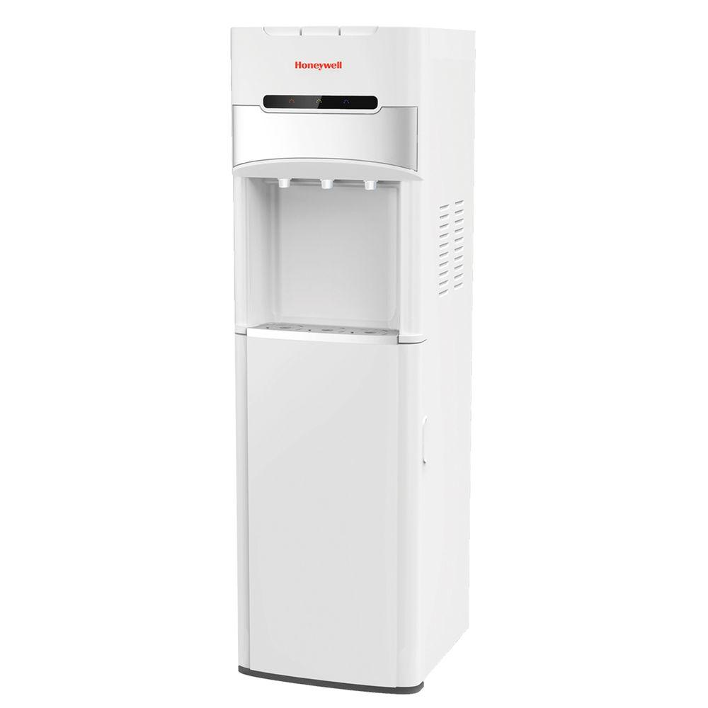 Honeywell Freestanding Bottom-Loading Hot, Room and Cold Water Cooler in White