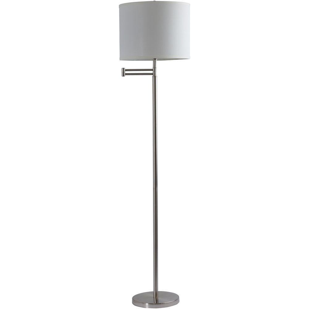 Ore International 59 In 3 Legged White Floor Lamp 31181iv The Home Depot