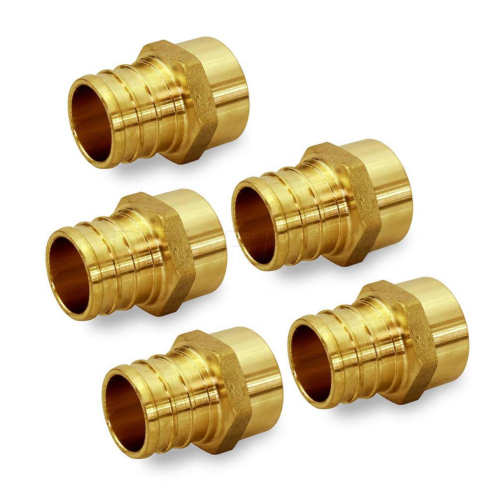 "100 1//2/"" PEX x 1//2/"" Male Sweat Adapters Brass Crimp Fittings"