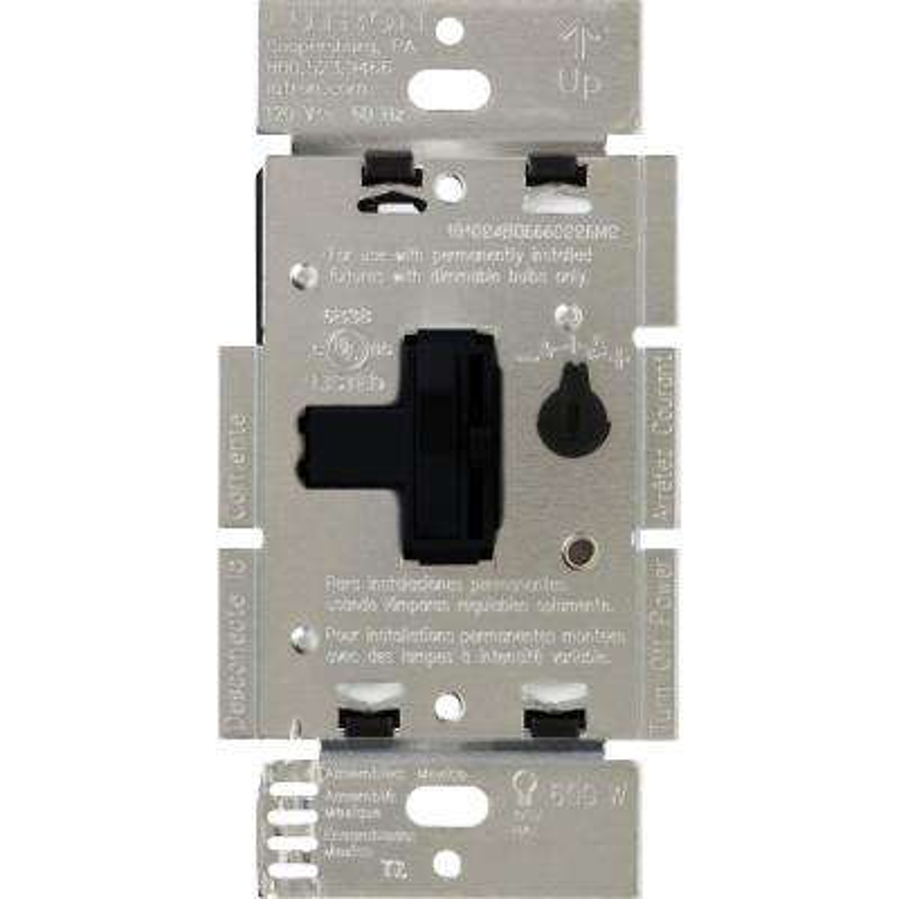 Toggler 600-Watt 3-Way Preset Dimmer, Black