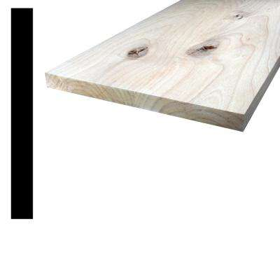 1 in. x 10 in. x 8 ft. Knotty Alder S4S Board