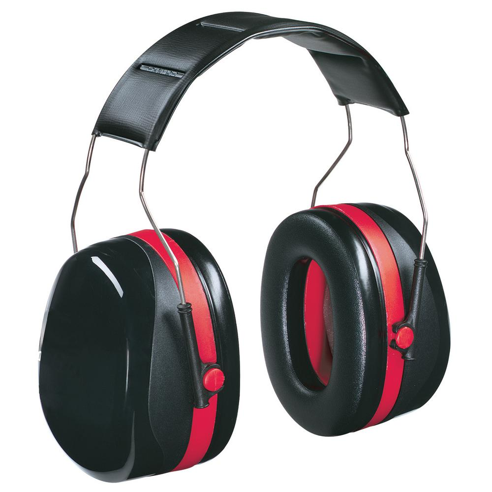 Lawn and Garden Pro-Grade Red and Black Cup Earmuff