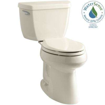 Highline Classic Comfort Height 10 in. Rough-In 2-Piece 1.28 GPF Single Flush Elongated Toilet in Almond