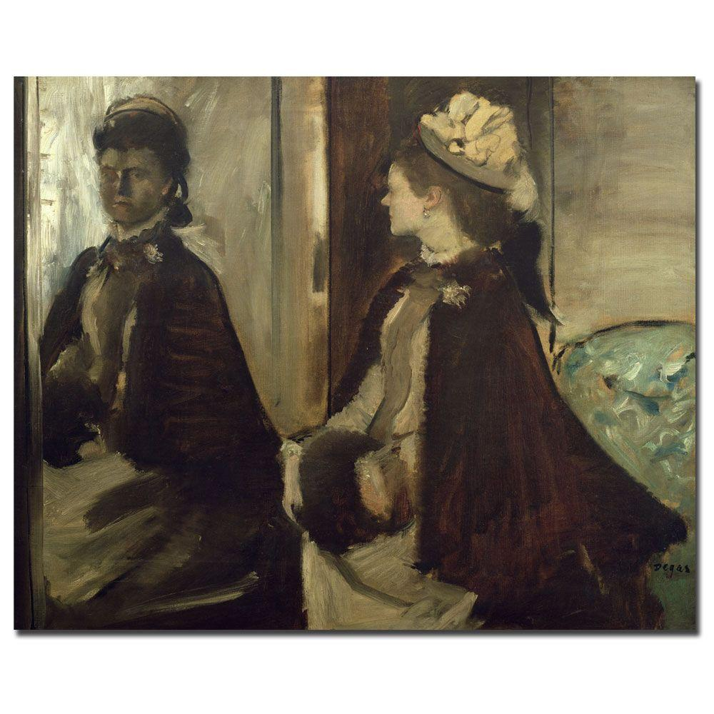 26 in. x 32 in. Madame Jeantaud in the Mirror Canvas