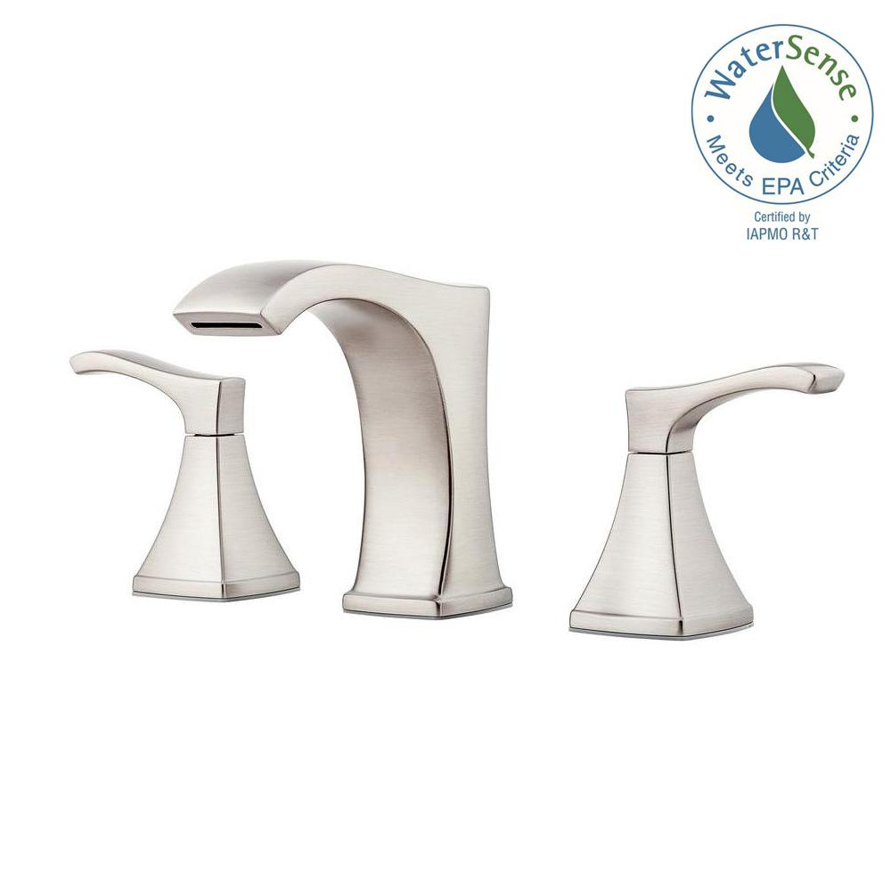 Pfister Venturi 8 in. Widespread 2-Handle Bathroom Faucet in Spot Defense Brushed Nickel
