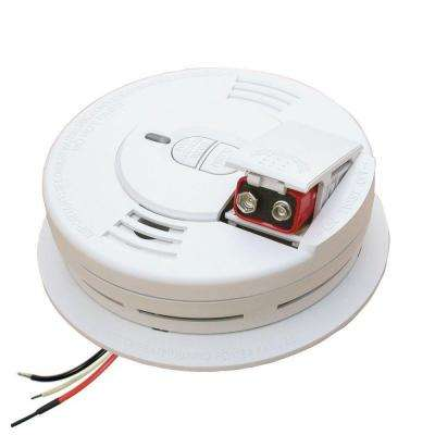 Hardwire Smoke Detector with 9V Battery Backup, Ionization Sensor, and 2-button test/hush