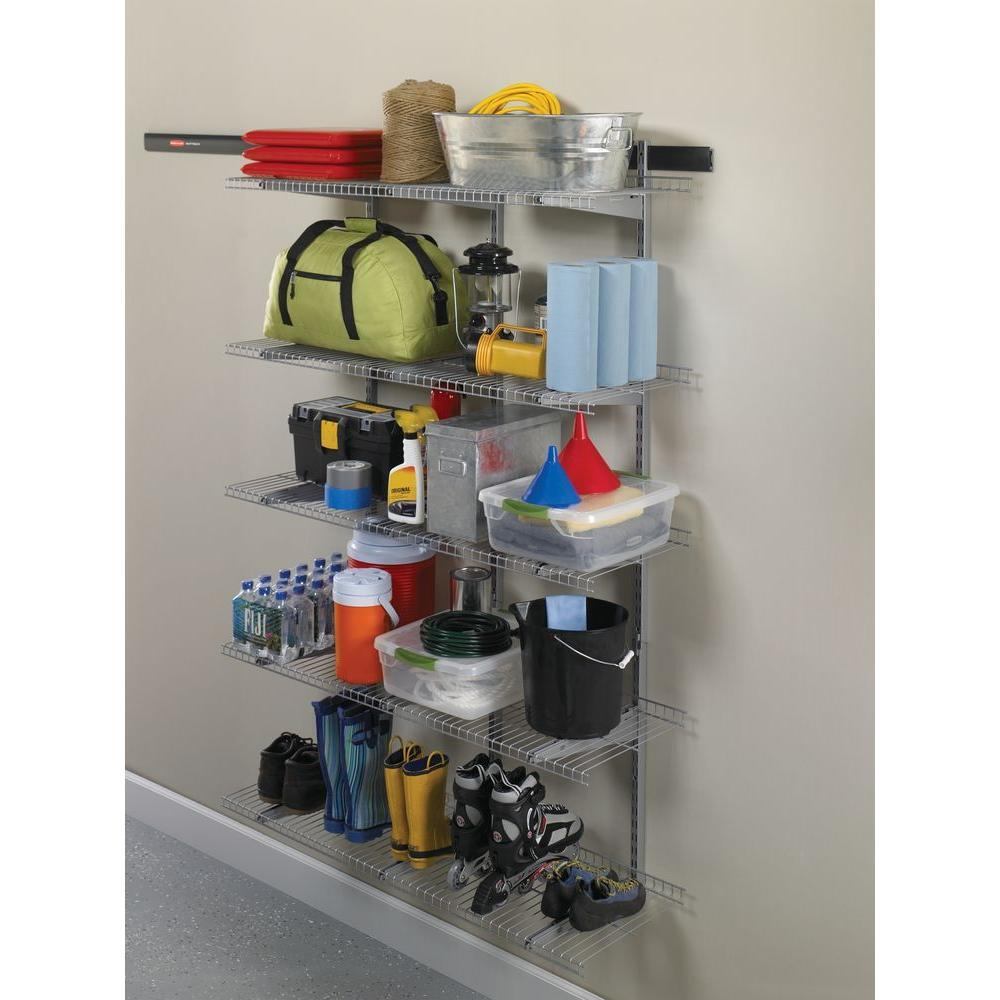 Rubbermaid Fasttrack Garage 16 In D Shelf Bracket With Sd Clips