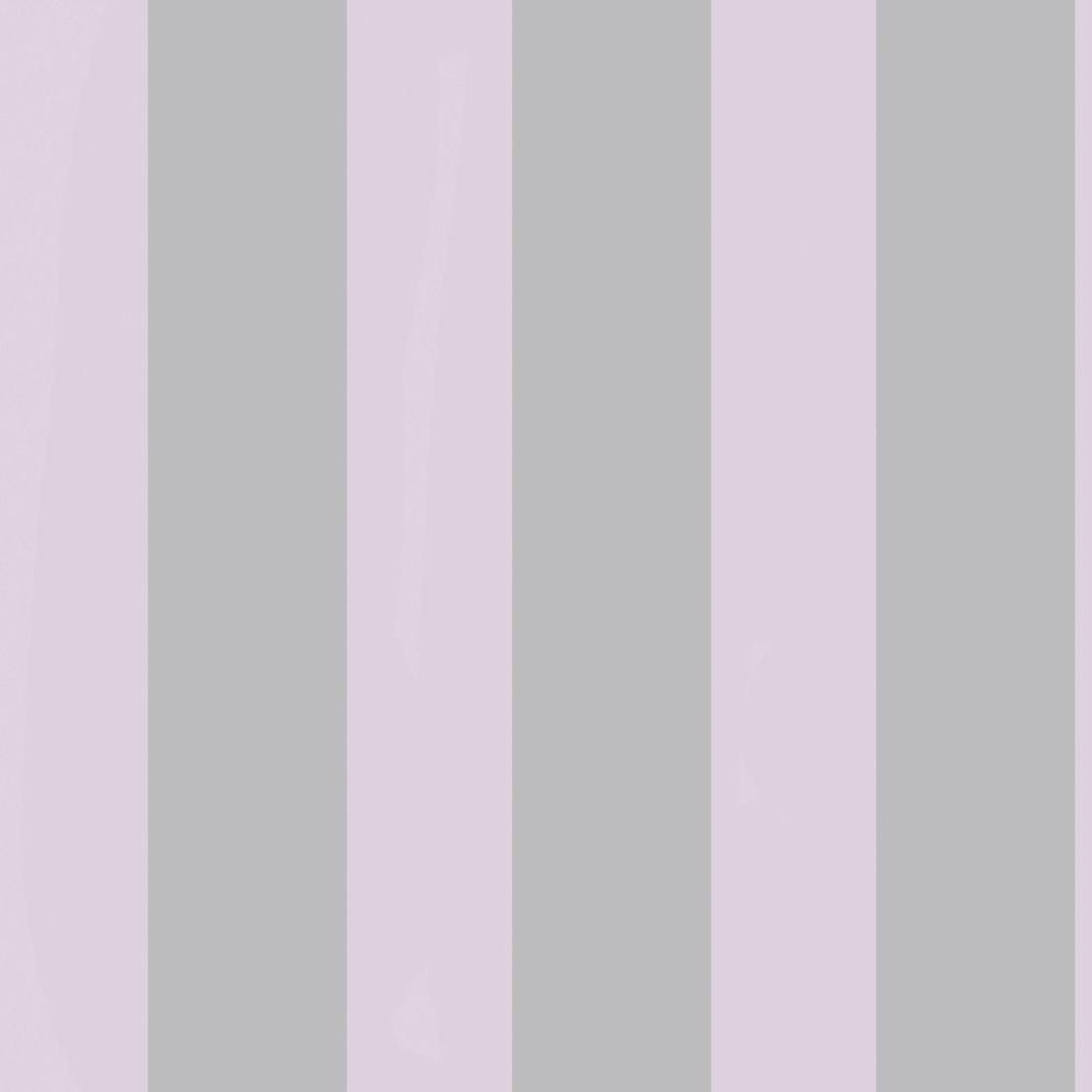 The Wallpaper Company 8 in. x 10 in. Stripe Pink/Grey Wallpaper Sample