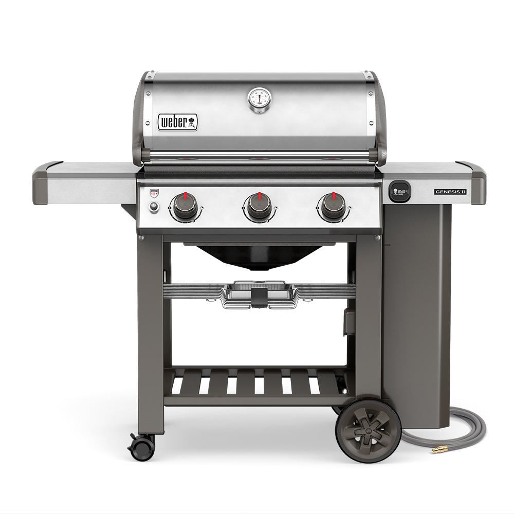 Weber Genesis II S-310 3-Burner Natural Gas Grill in Stainless ...