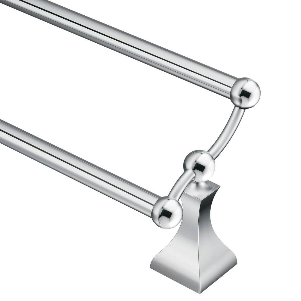 Moen Retreat 24 In Double Towel Bar In Chrome Dn8322ch The Home Depot