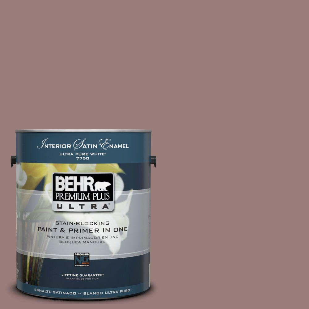 BEHR Premium Plus Ultra 1-Gal. #UL130-19 Cafe Ole Interior Satin Enamel Paint