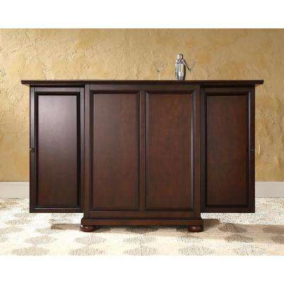Alexandria Mahogany Bar with Expandable Storage