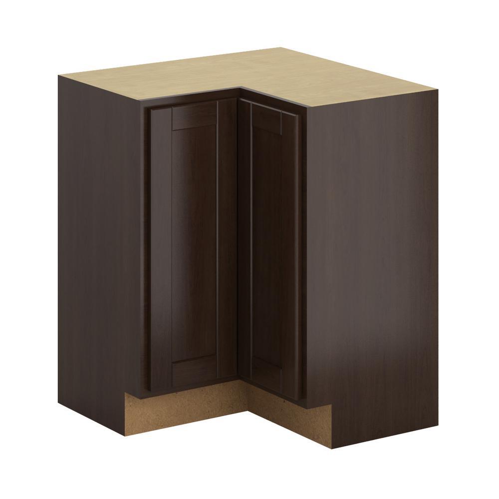 Princeton Shaker Assembled 28.5x34.5x28.5 in. Lazy Susan Corner Base Cabinet  sc 1 st  Home Depot & Hampton Bay Madison Assembled 36x34.5x24 in. Blind Corner Base ...