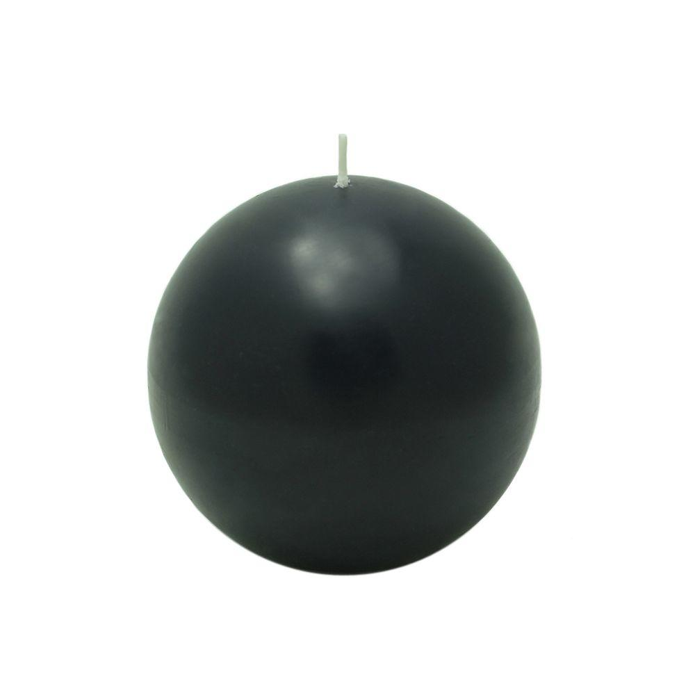 Zest Candle 4 in. Black Ball Candles (2-Box)