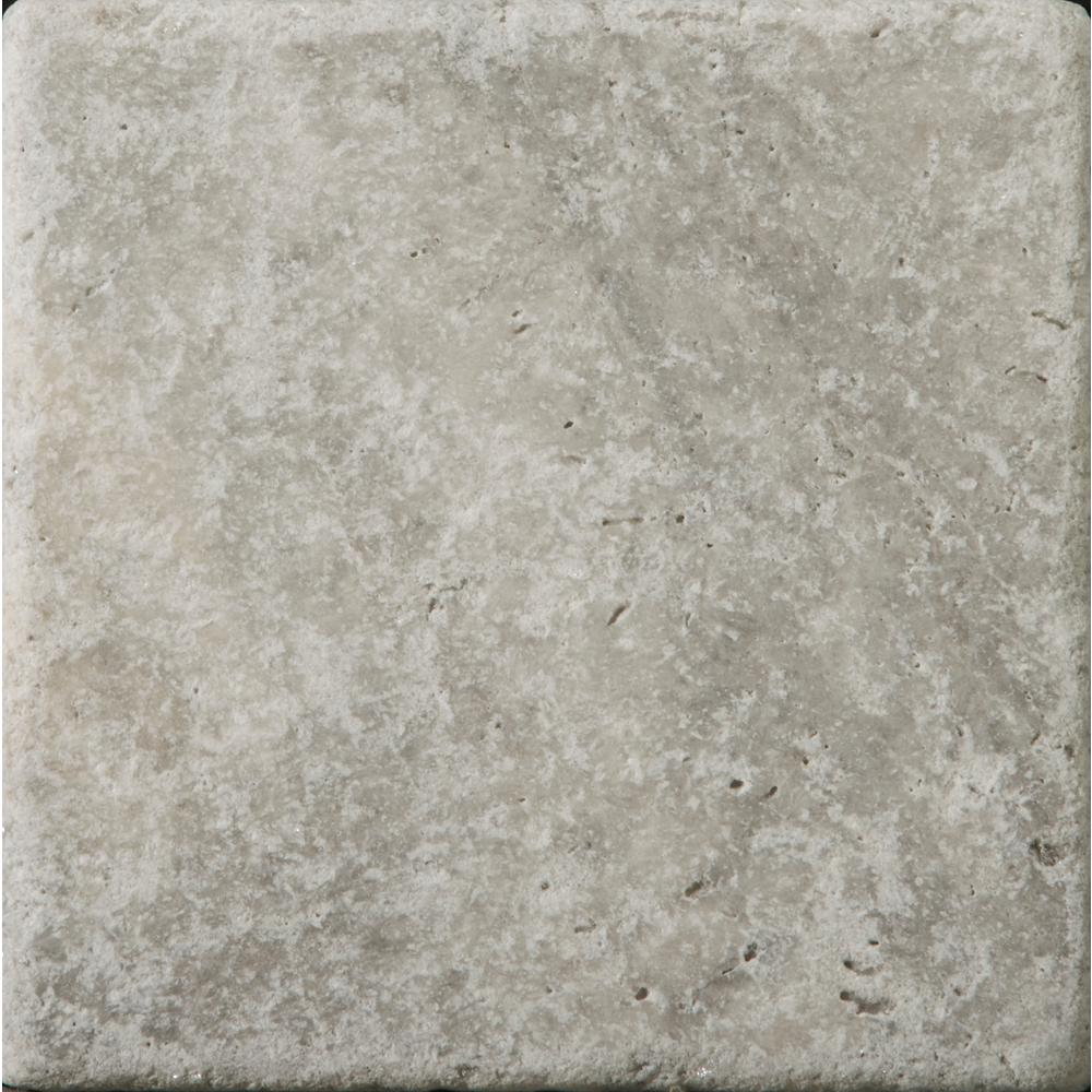 Emser Trav Ancient Tumbled Silver 5.91 in. x 5.91 in. Travertine Wall Tile