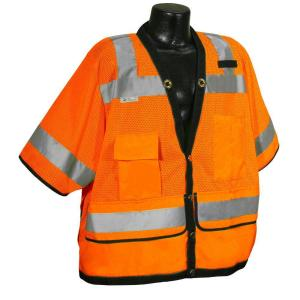 Radians Cl 3 Heavy Duty Surveyor Orange Dual Large Safety Vest by Radians