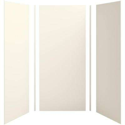 Choreograph 42in. x 36 in. x 96 in. 5-Piece Shower Wall Surround in Biscuit for 96 in. Showers