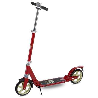Jiffi J-40 Premium Folding Adult Kick Scooter in Red