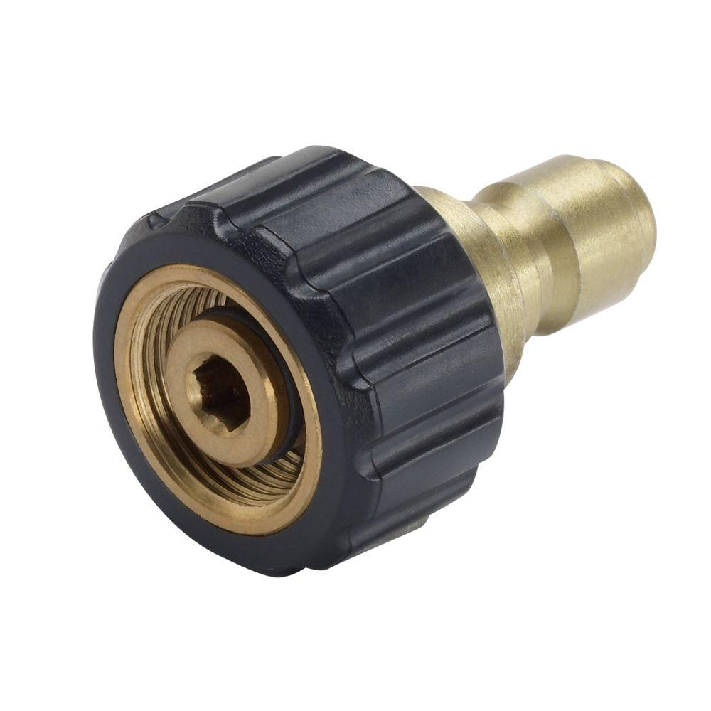 Power Care Female M22 X 3 8 In Male Quick Connect Connector For Pressure Washer Ap31040b The