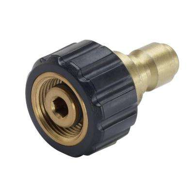 Female M22 x 3/8 in. Male Quick-Connect Connector for Pressure Washer