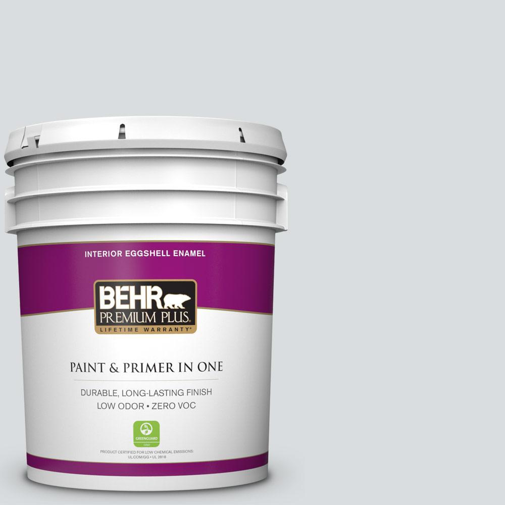 BEHR Premium Plus 5-gal. #ECC-33-2 Silver Sands Zero VOC Eggshell Enamel Interior Paint
