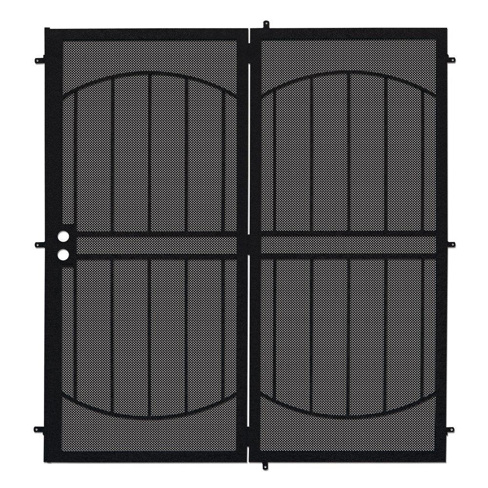 Arcada Black Projection Mount Outswing Steel Patio Security Door