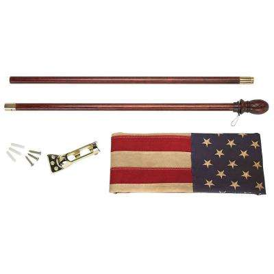 Heritage 2-1/2 ft. x 4 ft. Cotton U.S. Flag Kit