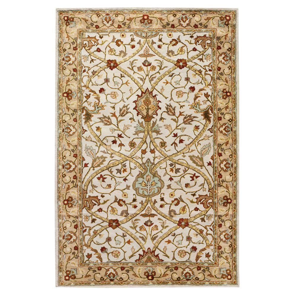 Home decorators collection anatole dark ivory beige 2 ft for Home accents rug collection