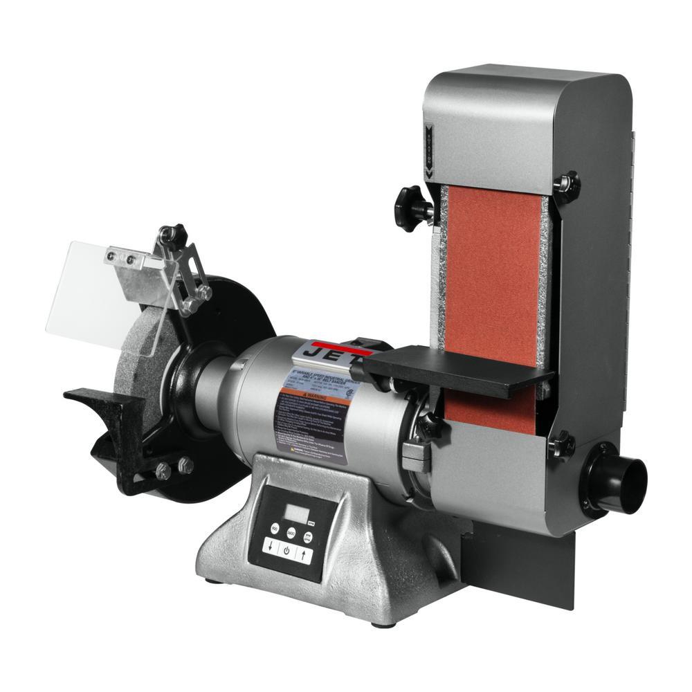 Variable Speed Combination 8 in. Industrial Grinder and 4 in. x 36 in. Belt Sander 1HP 115-Volt, IBGB-436VS