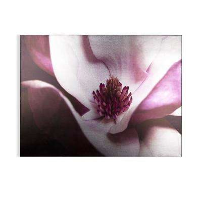 "32 in. x 24 in. ""Metallic Plum Petals "" Printed Wall Art"