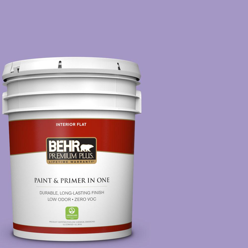 BEHR Premium Plus 5-gal. #640B-5 Bloomsberry Zero VOC Flat Interior Paint