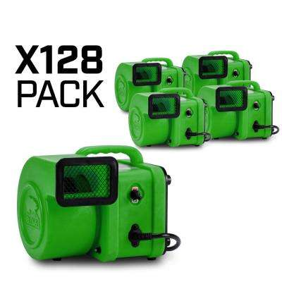 1/4 HP Mini Air Mover for Water Damage Restoration Carpet Dryer Floor Blower Fan in Green (128-Pack)