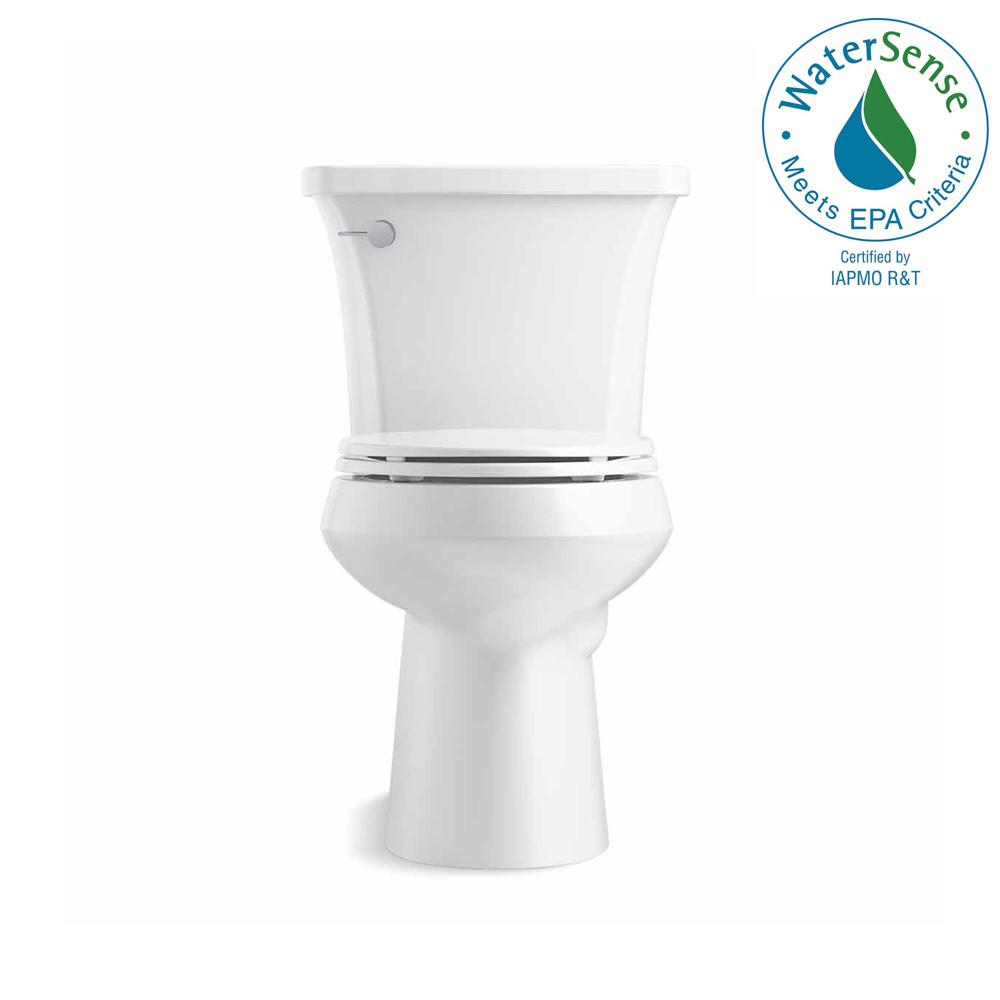KOHLER Highline Arc The Complete Solution 2-piece 1.28 GPF Single Flush Elongated Toilet in White, Seat Included (3-Pack)