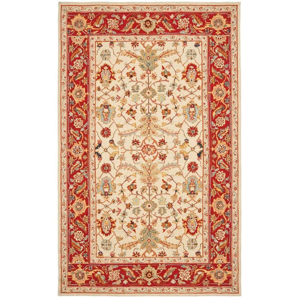 Safavieh Chelsea Ivory/Red 5 ft. 3 in. x 8 ft. 3 in. Area Rug