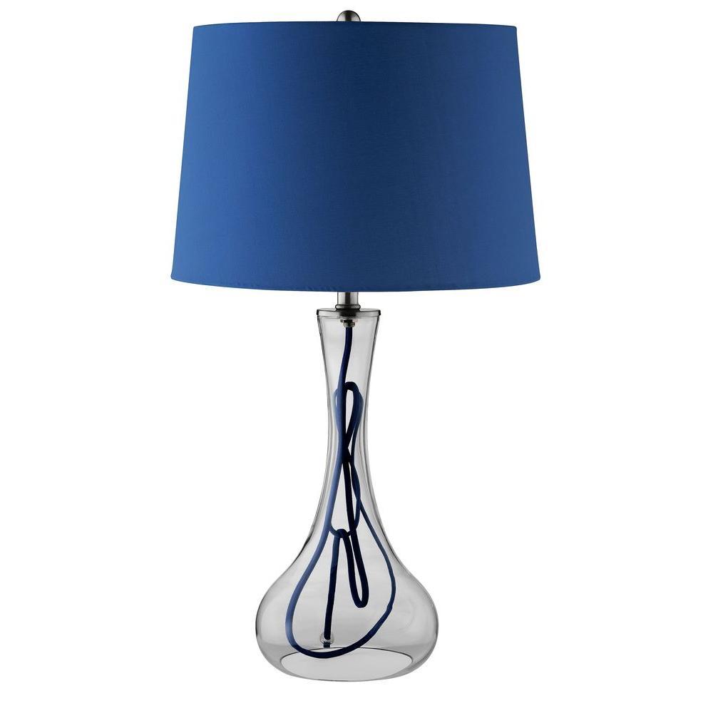 Filament Design Sonoma 26 in. Clear Incandescent Table Lamp