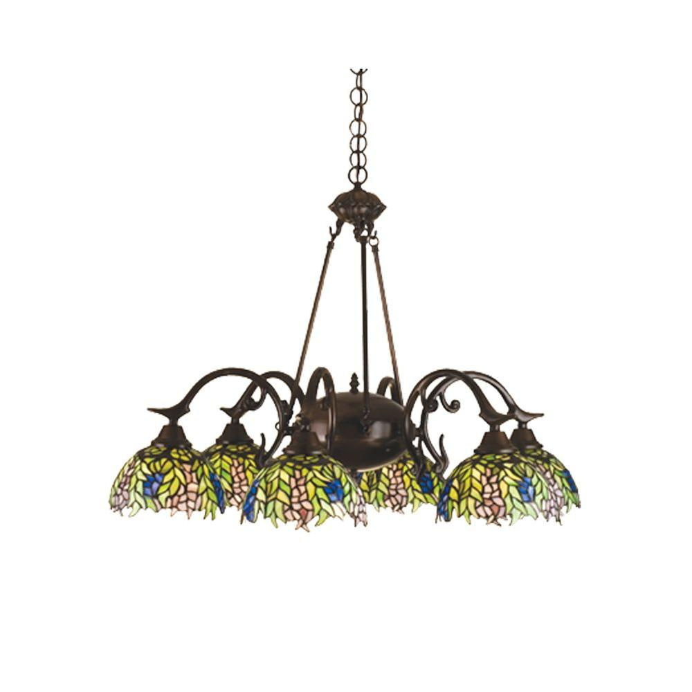Illumine 6-Light Tiffany Honey Locust Chandelier