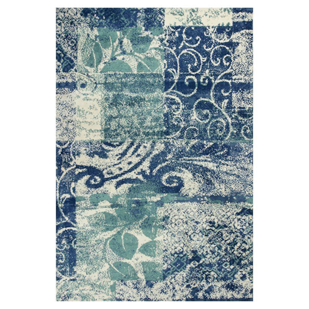 Kas Rugs Whimsical Palette Blue/Green 5 ft. x 7 ft. Area Rug