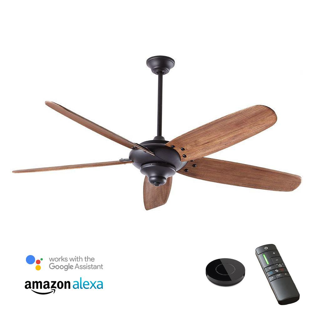 Home Decorators Collection Altura DC 68 in. Indoor Matte Black Ceiling Fan works with Google Assistant and Alexa