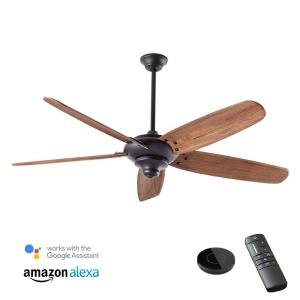 Altura DC 68 in. Indoor Matte Black Ceiling Fan works with Google Assistant and Alexa