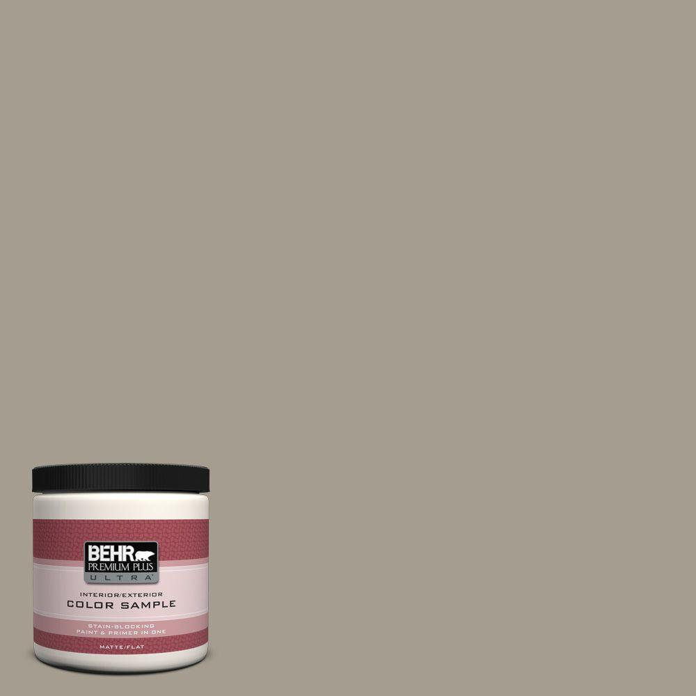 BEHR Premium Plus Ultra 8 oz. #720D-4 Ashwood Matte Interior/Exterior Paint and Primer in One Sample