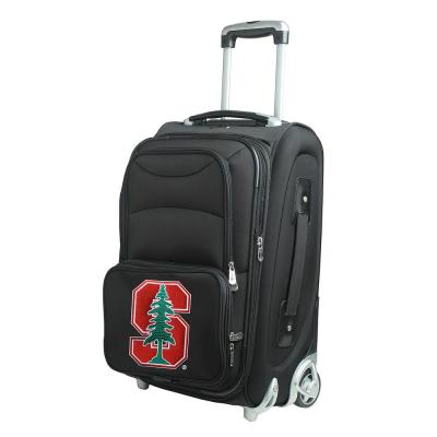 Denco NCAA Stanford 21 in. Black Carry-On Rolling Softside Suitcase