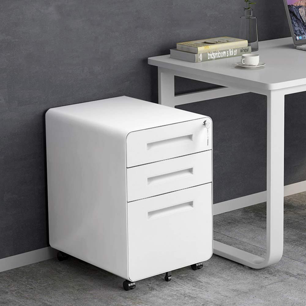 Boyel Living White Metal Storage Decorative Vertical File Cabinet