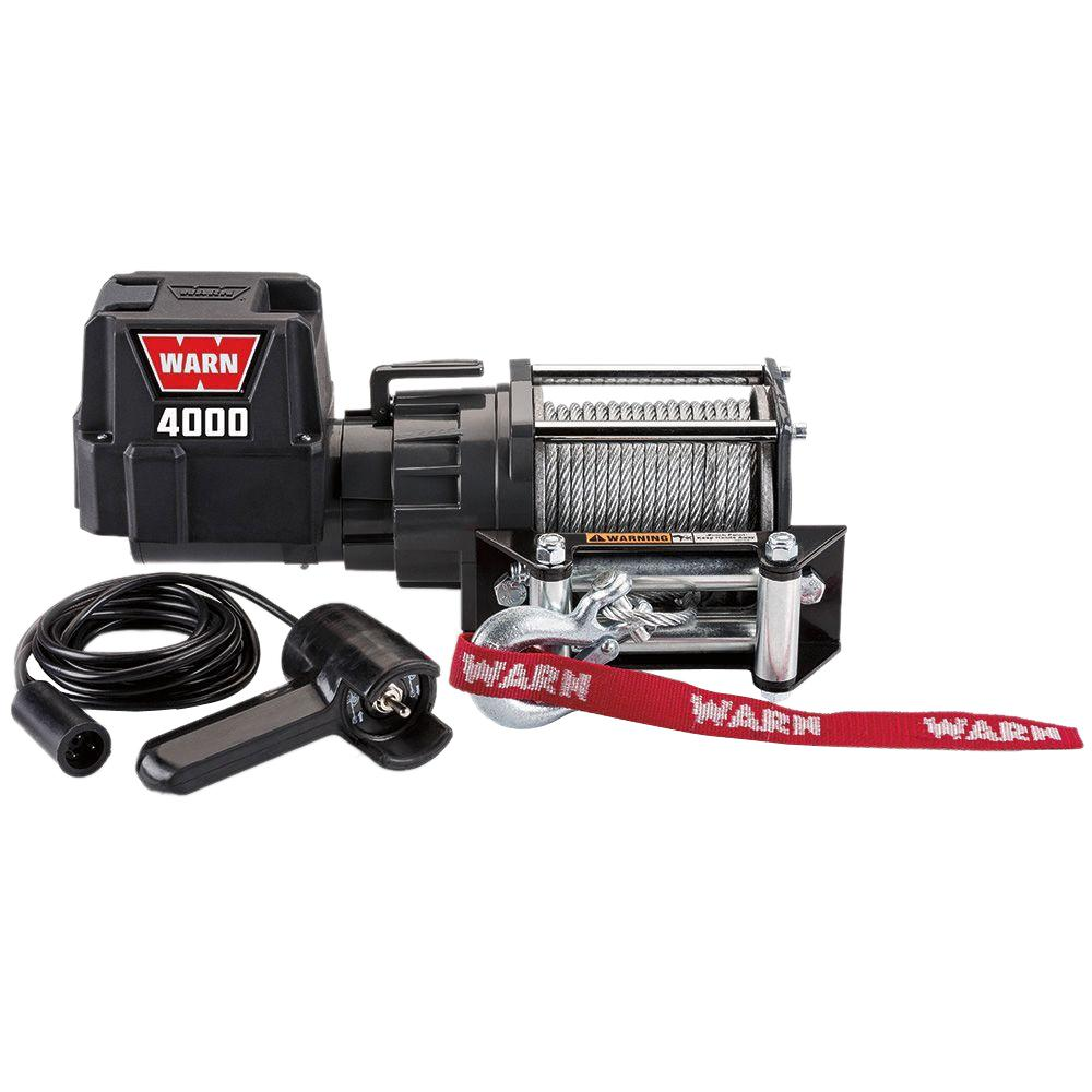 Warn 4000 Dc Trailer Loading Utility Winch 94000 The Home Depot