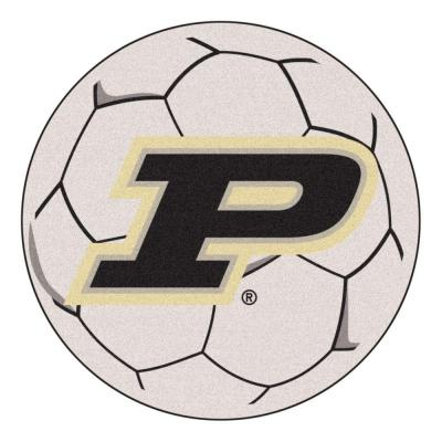 NCAA Purdue University P Logo Cream 2 ft. x 2 ft. Round Area Rug