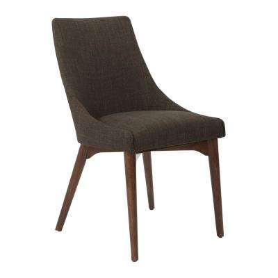 Windsor Taupe Fabric with Coffee Legs Dining Chair