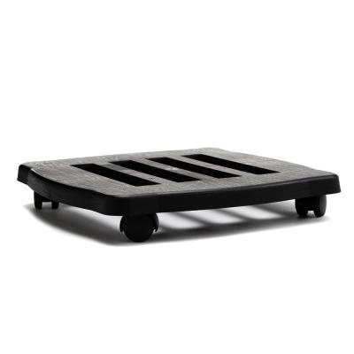 Caddy Square 15 in. Black Plastic Plant Stand Caddy with Wheels
