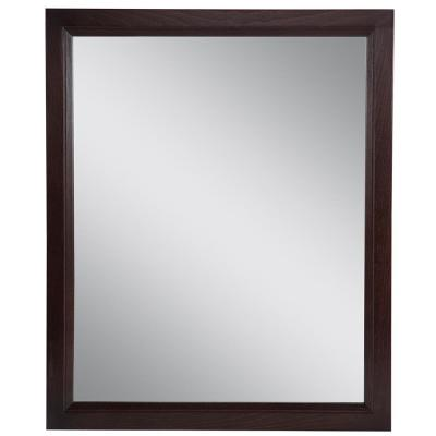 Stratfield 26 in. W x 31 in. H Framed Wall Mirror in Chocolate