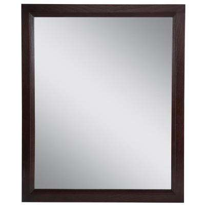 Stratfield 25.67 in. W x 31.38 in. H Framed Wall Mirror in Chocolate