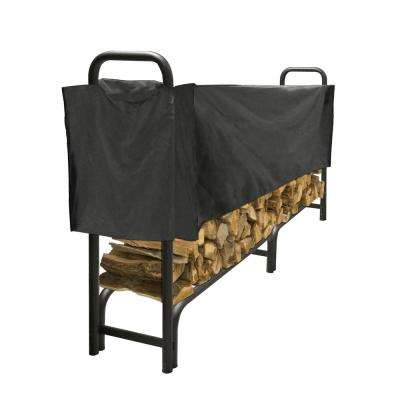 8 ft. Heavy Duty Firewood Rack with Half Cover